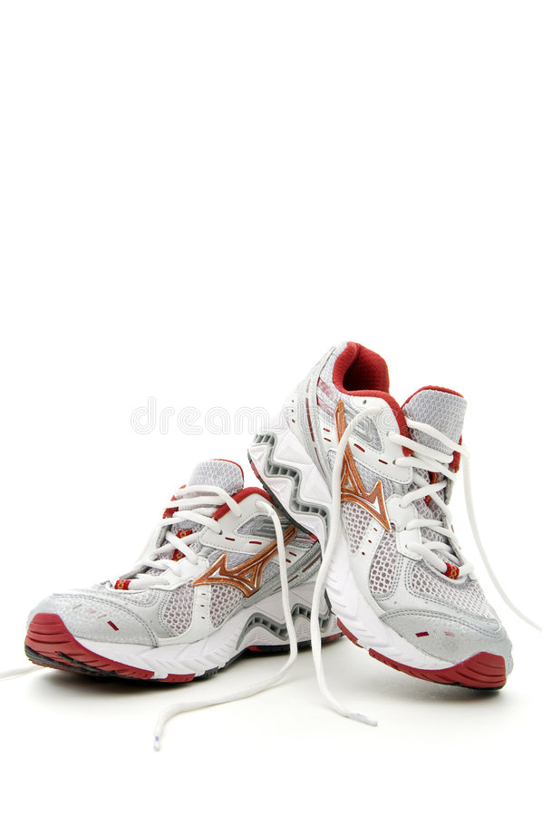 Download Pair of running shoes stock image. Image of gray, track - 8278339