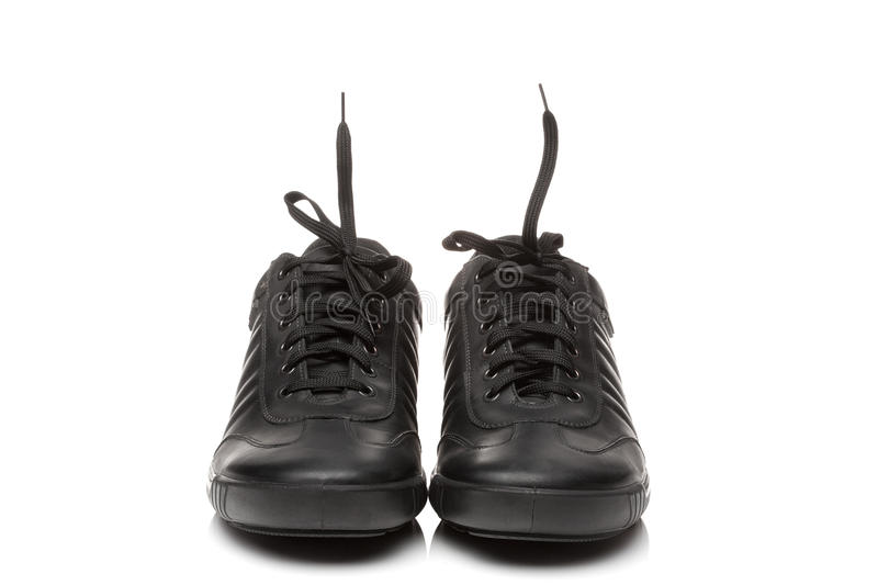 Pair of shoes. A pair of men's oxfords on a white background royalty free stock images