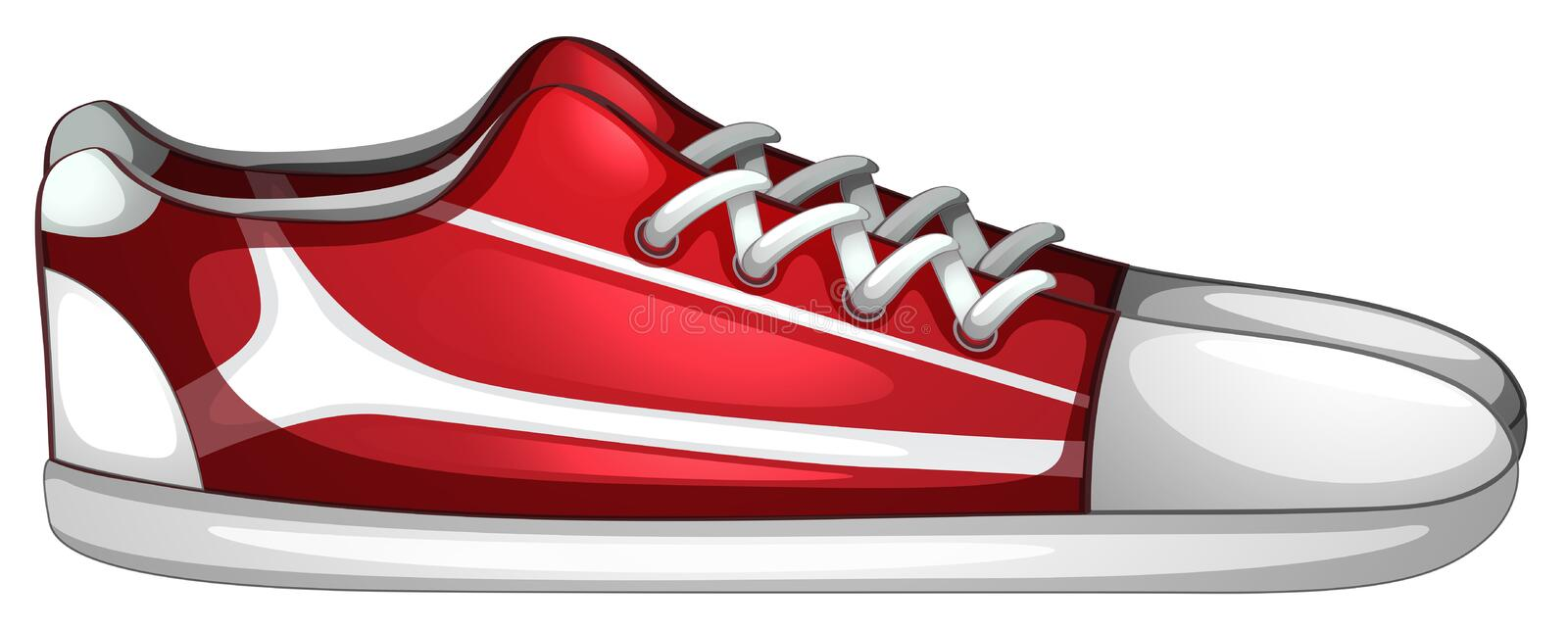 A pair of shoes royalty free illustration