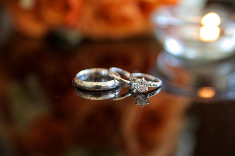 Download Pair of silver rings stock photo. Image of lying, dark - 25156566