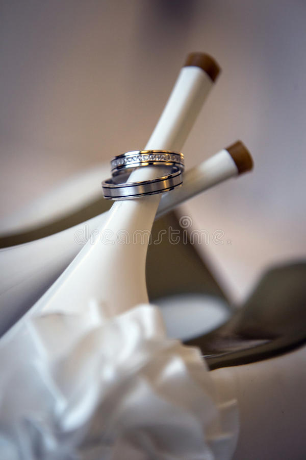 Download A pair of silver rings stock image. Image of engagement - 27526669