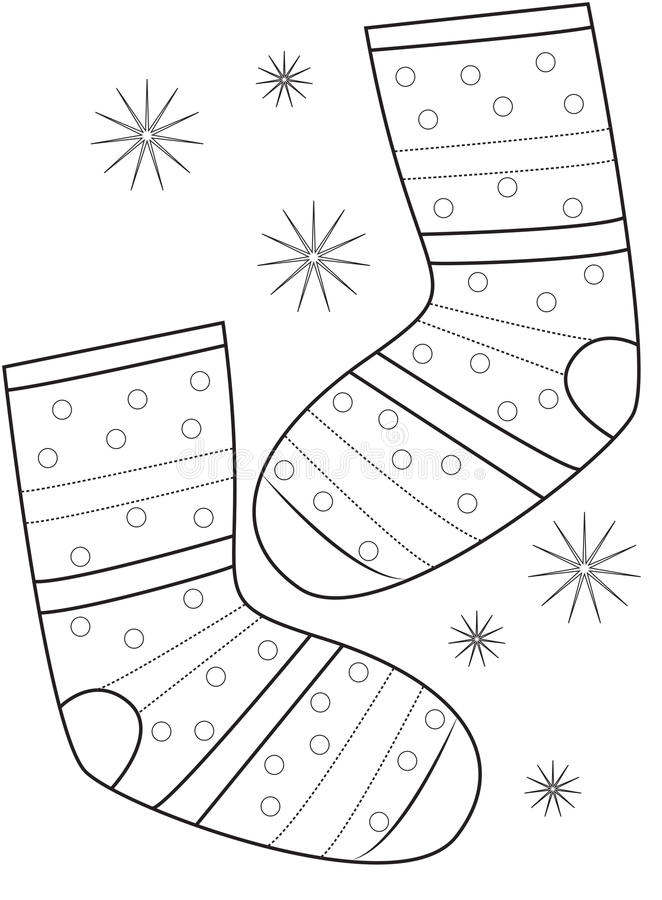 Socks Coloring Stock Illustrations – 476 Socks Coloring Stock  Illustrations, Vectors & Clipart - Dreamstime