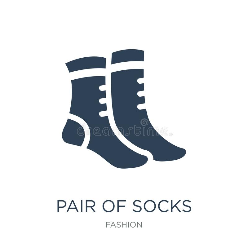 Pair of socks icon in trendy design style. pair of socks icon isolated on white background. pair of socks vector icon simple and. Modern flat symbol for web vector illustration