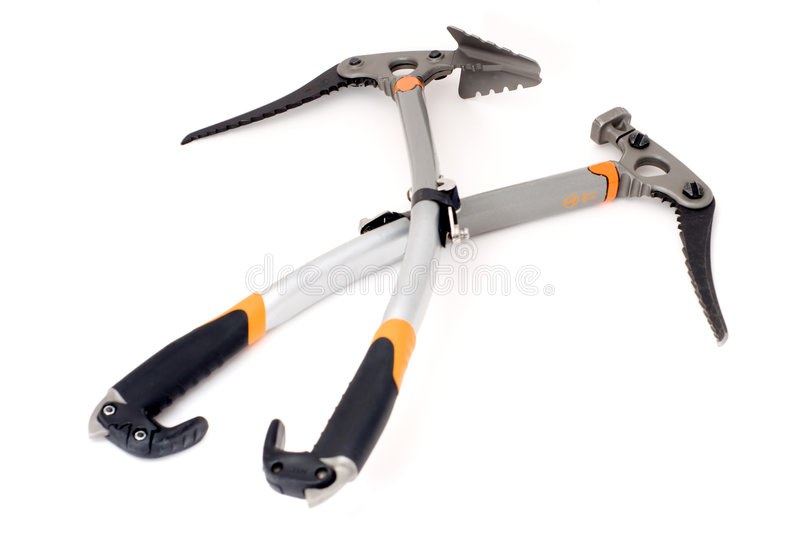 Download Pair of sport ice axes stock image. Image of adze, mountain - 4257397