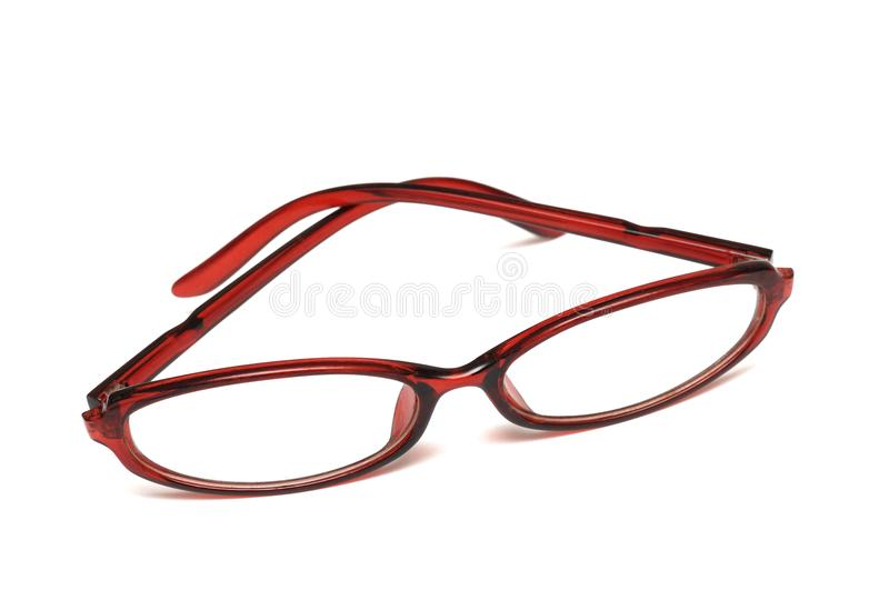 A pair of square type ladies eyeglasses royalty free stock image