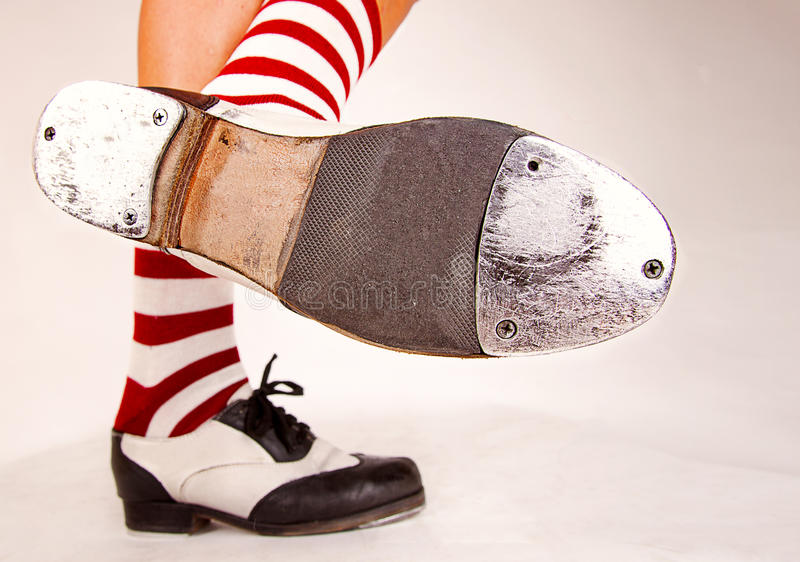 Pair of tap shoes royalty free stock photo