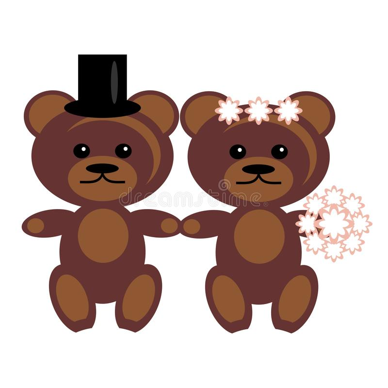 Download Pair of teddy bears stock vector. Illustration of isolated - 15319817