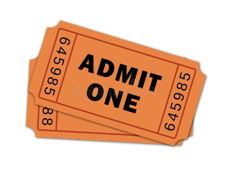 Pair of Theatre Tickets stock illustration