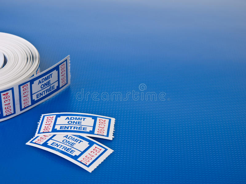 Pair of tickets royalty free stock image