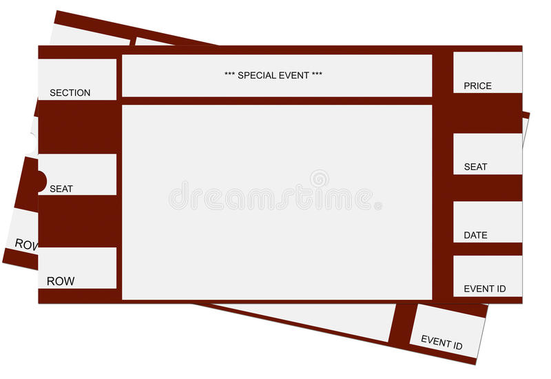 Pair of Tickets royalty free illustration