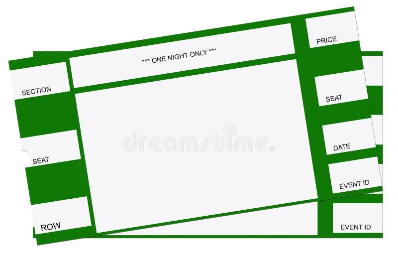 Pair of Tickets vector illustration