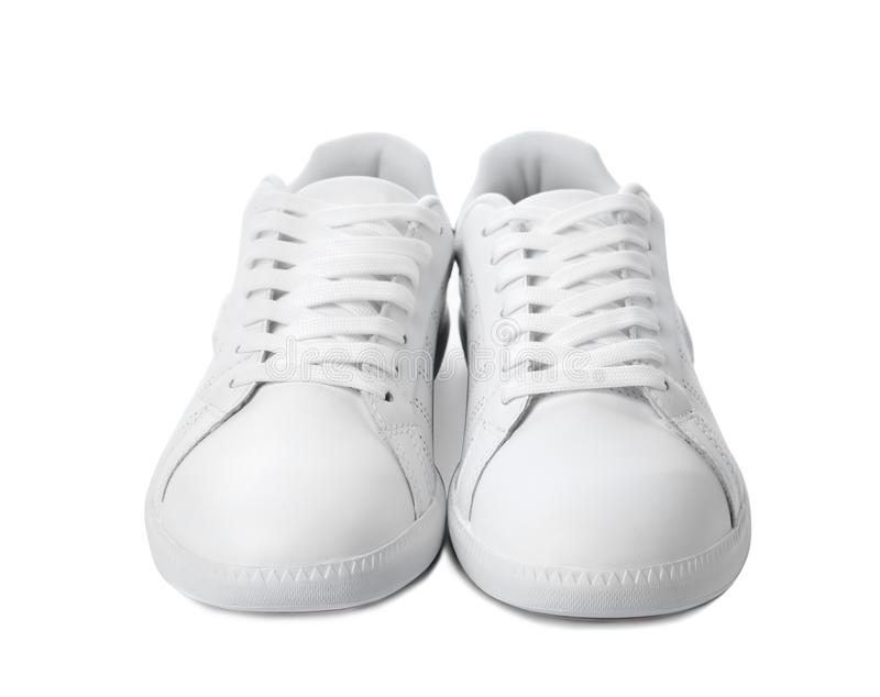 Pair of trendy sneakers stock photography