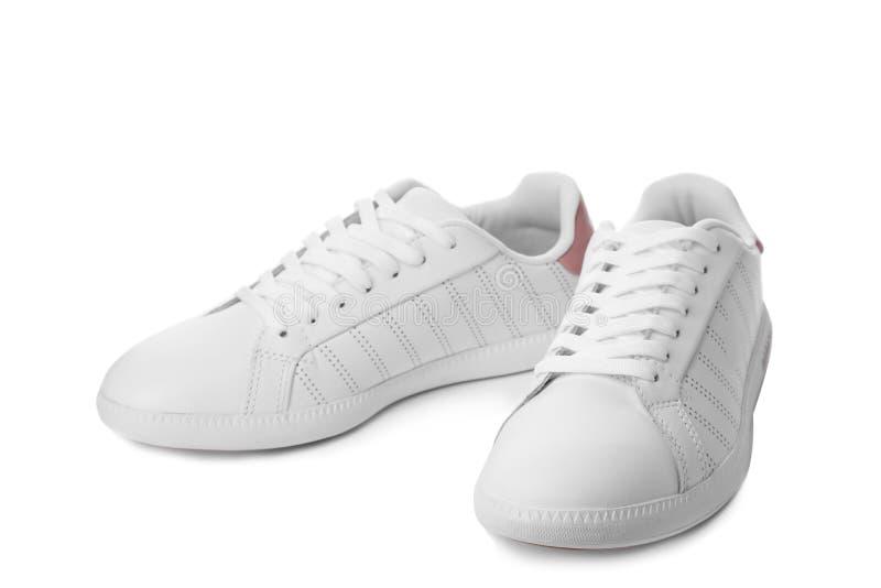 Pair of trendy sneakers stock images