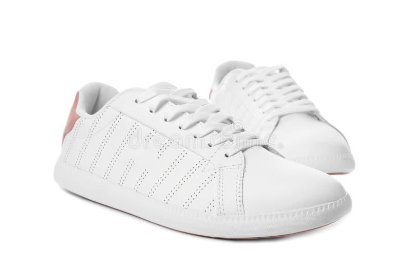 Pair of trendy sneakers royalty free stock photos