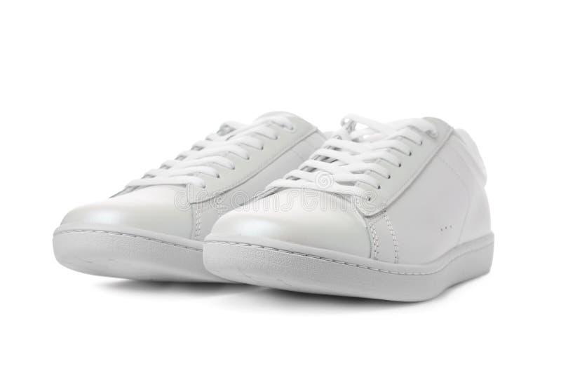 Pair of trendy sneakers royalty free stock image