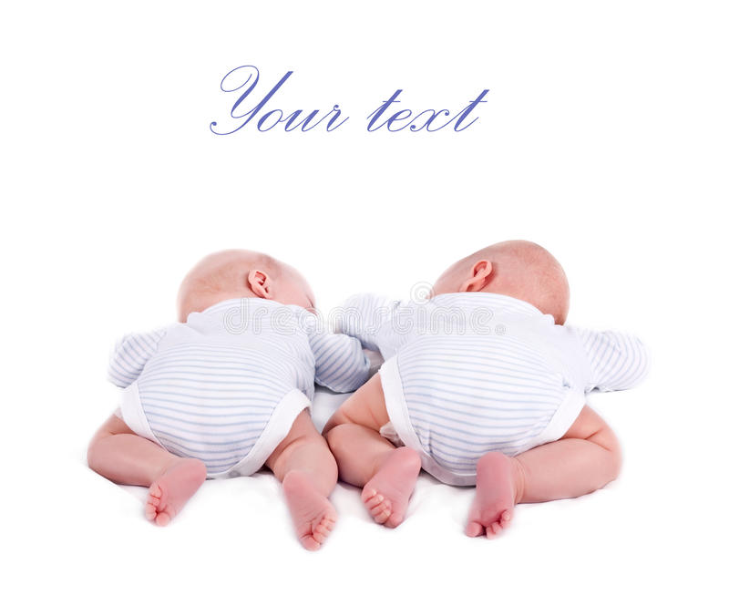 Pair of twins royalty free stock photography