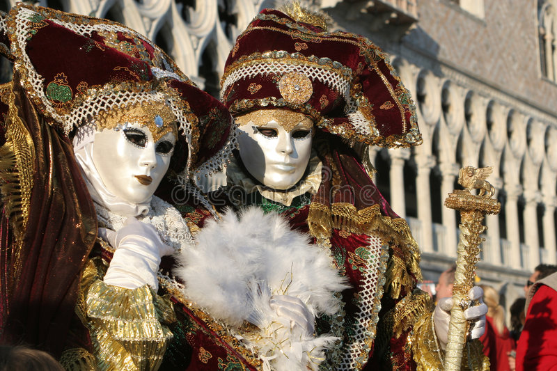Pair in venice royalty free stock photography