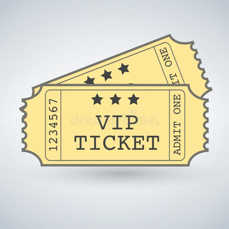 Pair of VIP Tickets royalty free illustration