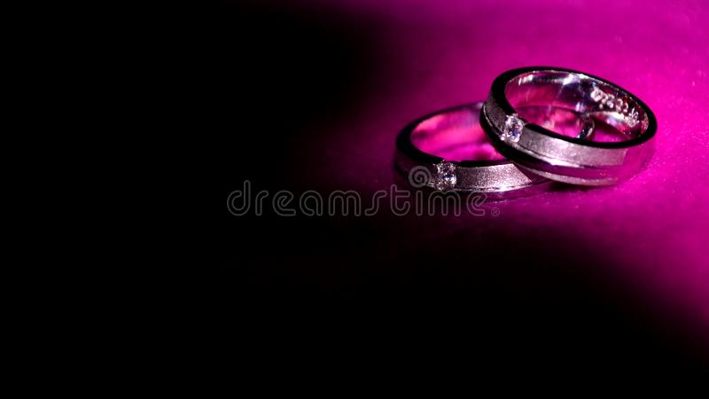 A pair of wedding rings stock image