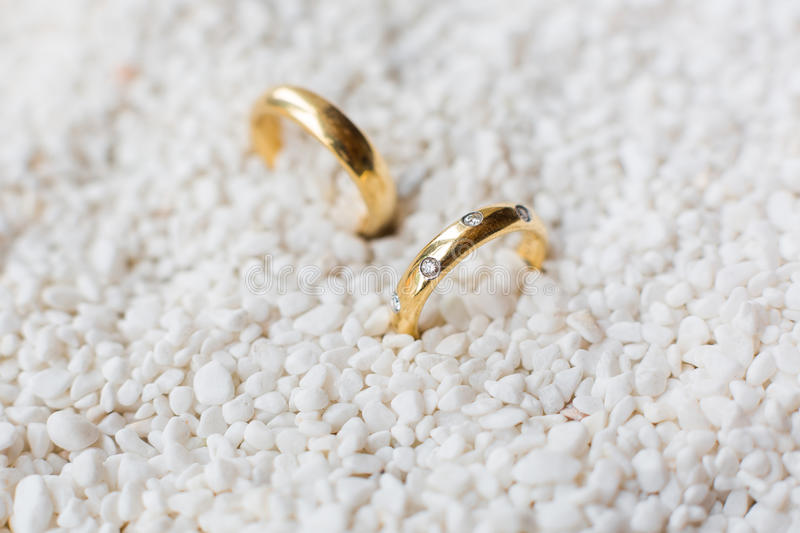 Pair Of Wedding Rings Stock Photography