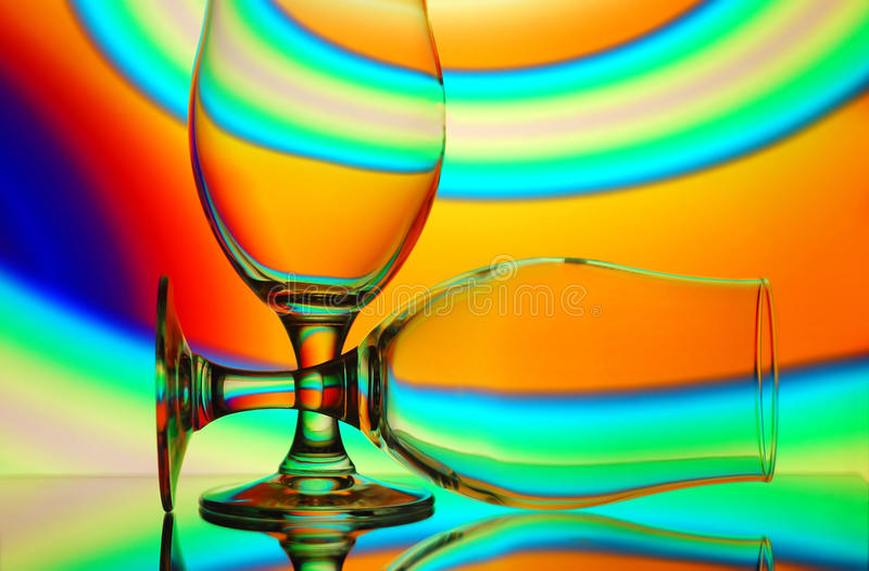 Pair of wine glasses stock photo