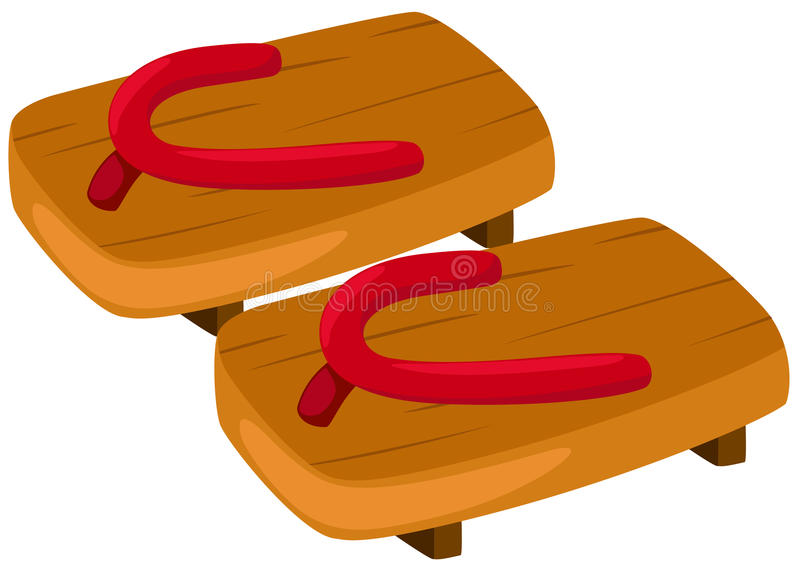 Download Pair of wooden clog stock vector. Image of illustration - 20452236