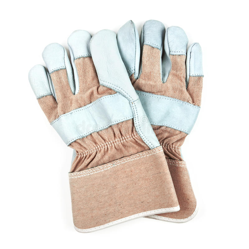 Download Pair Of Work Gloves Isolated On White Stock Image - Image: 11327563