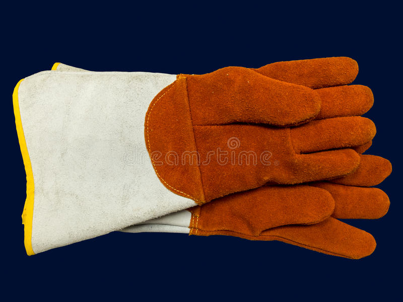 Pair working gloves stock photos