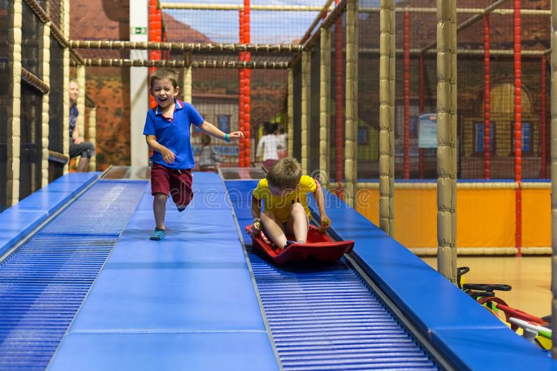 Download Children on  playground stock image. Image of laughing - 106419061