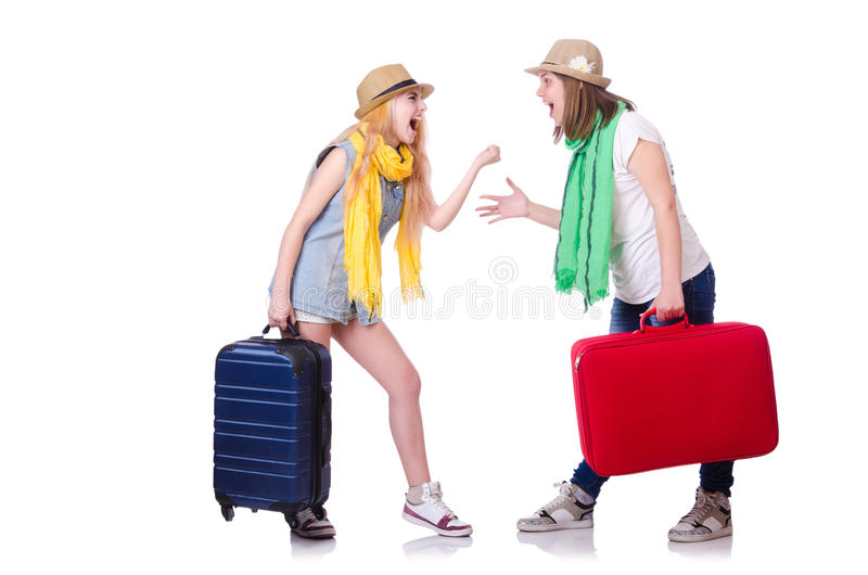 Download Pair of young students stock image. Image of adult, briefcase - 31457853