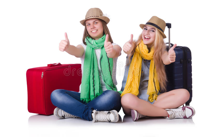 Download Pair of young students stock image. Image of pair, briefcase - 32218725