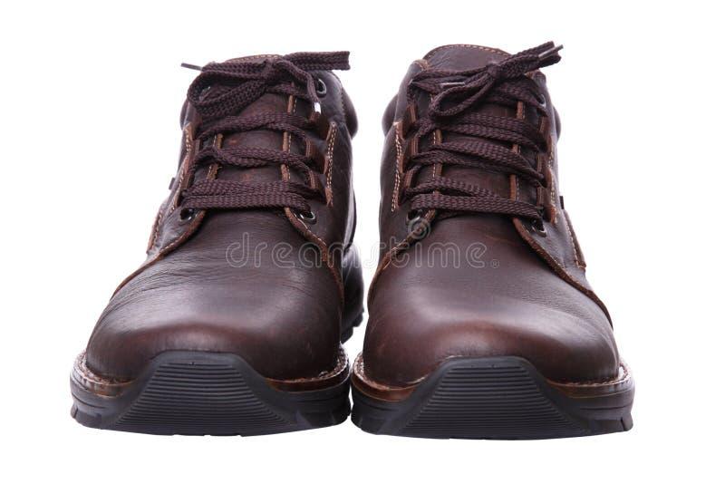 Paire de chaussures avec des lacets photo stock