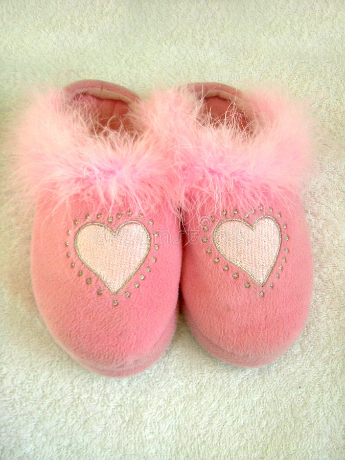 Paires confortables pelucheuses photo stock