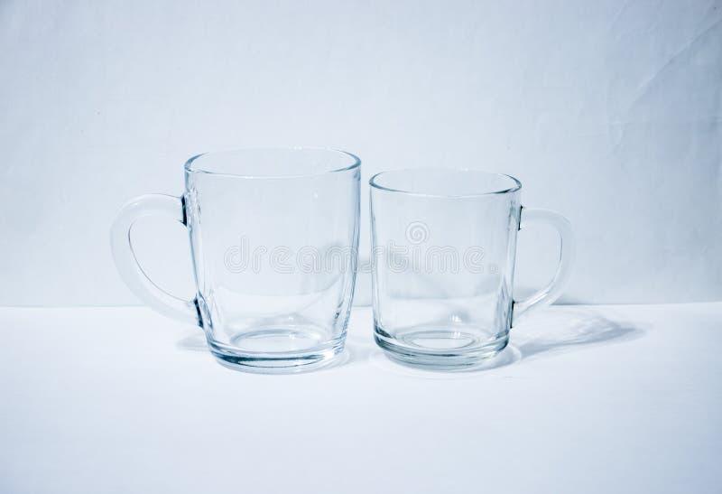 Paires de bechers en verre image libre de droits