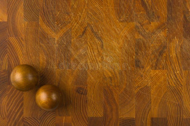 Paires de boules chinoises en bois Baoding image libre de droits