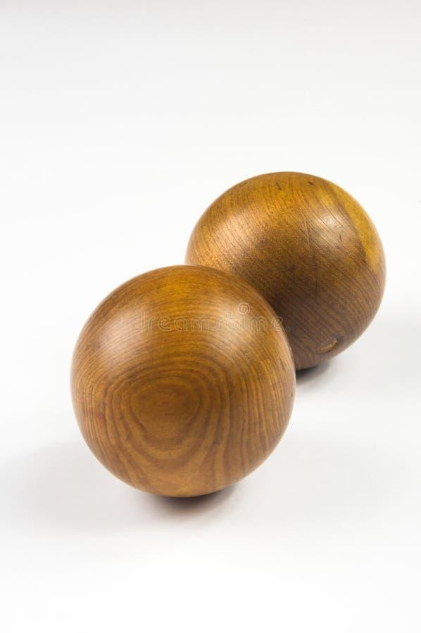 Paires de boules chinoises en bois Baoding image stock