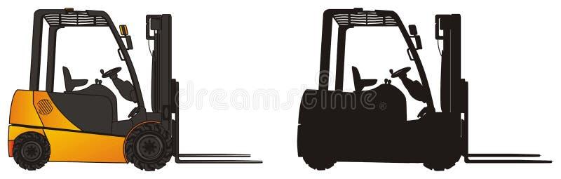 Paires de chariots élévateurs illustration stock
