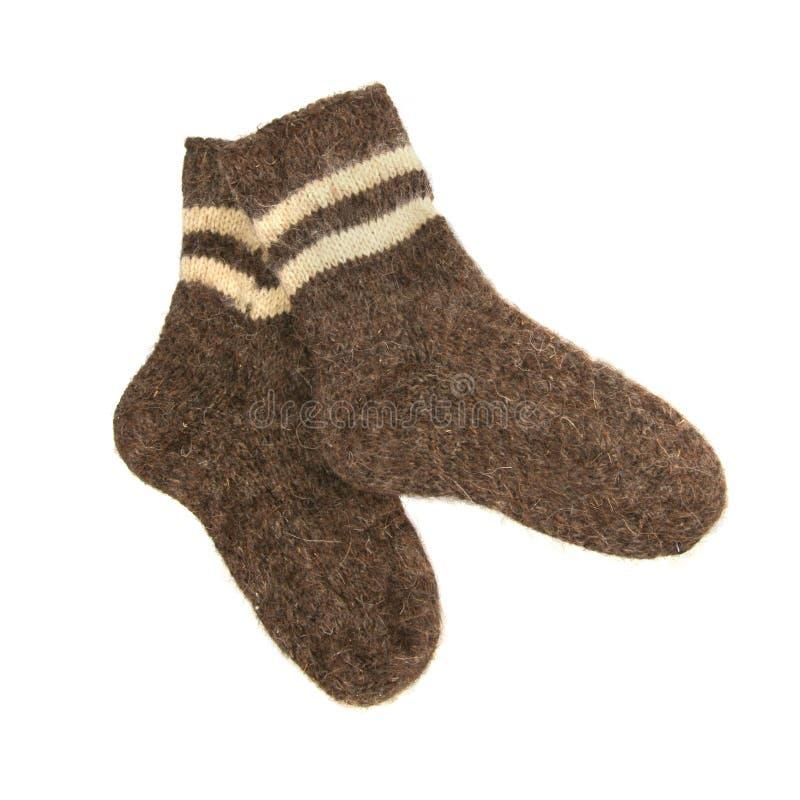 Paires de chaussettes chaudes de laine image libre de droits