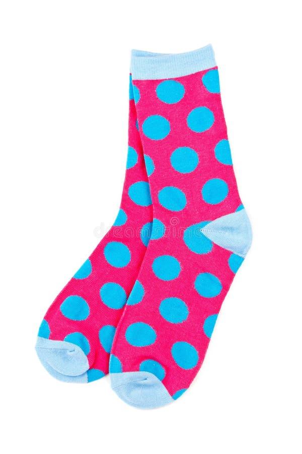 Paires de chaussettes colorées photo stock
