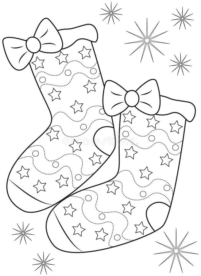 Paires de chaussettes colorant la page illustration libre de droits