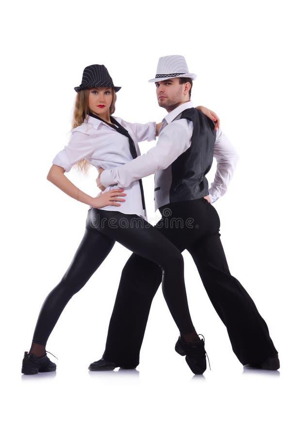 Paires de danse de danseurs images stock