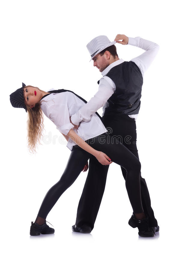 Paires de danse de danseurs photographie stock libre de droits