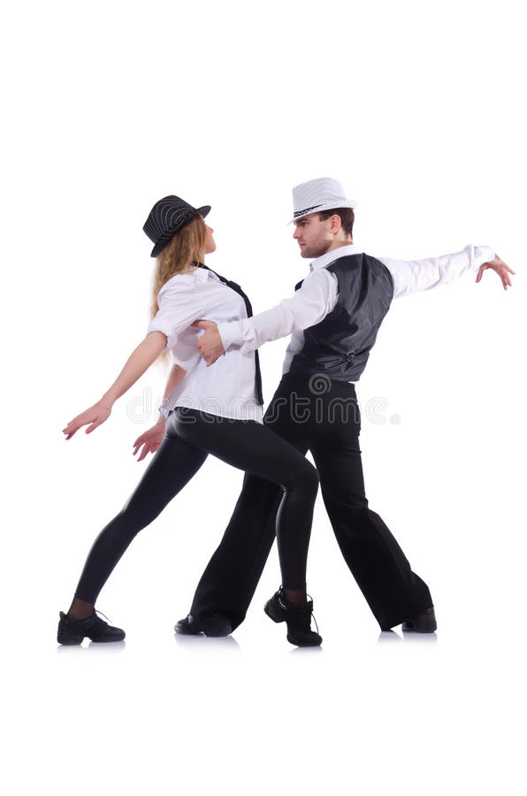 Paires de danse de danseurs photo stock