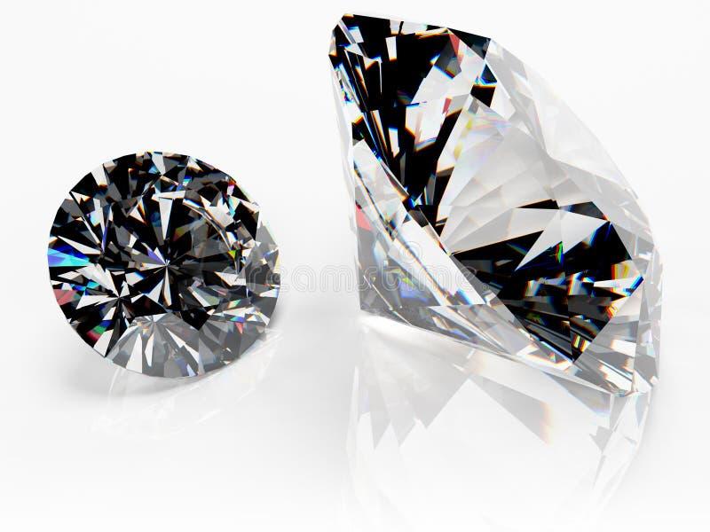 Paires de diamants (aucun catchlight) illustration libre de droits