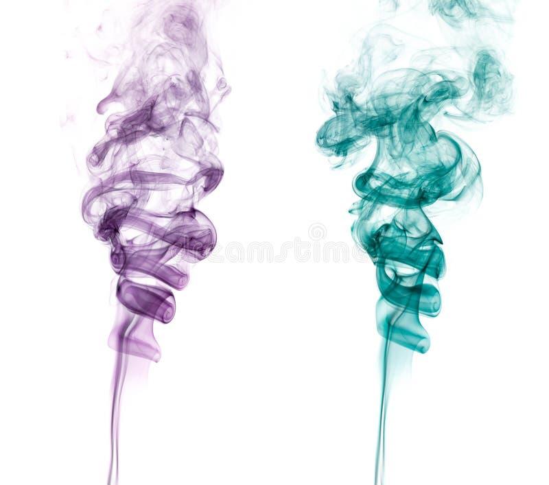 Paires de fumée abstraite photographie stock libre de droits