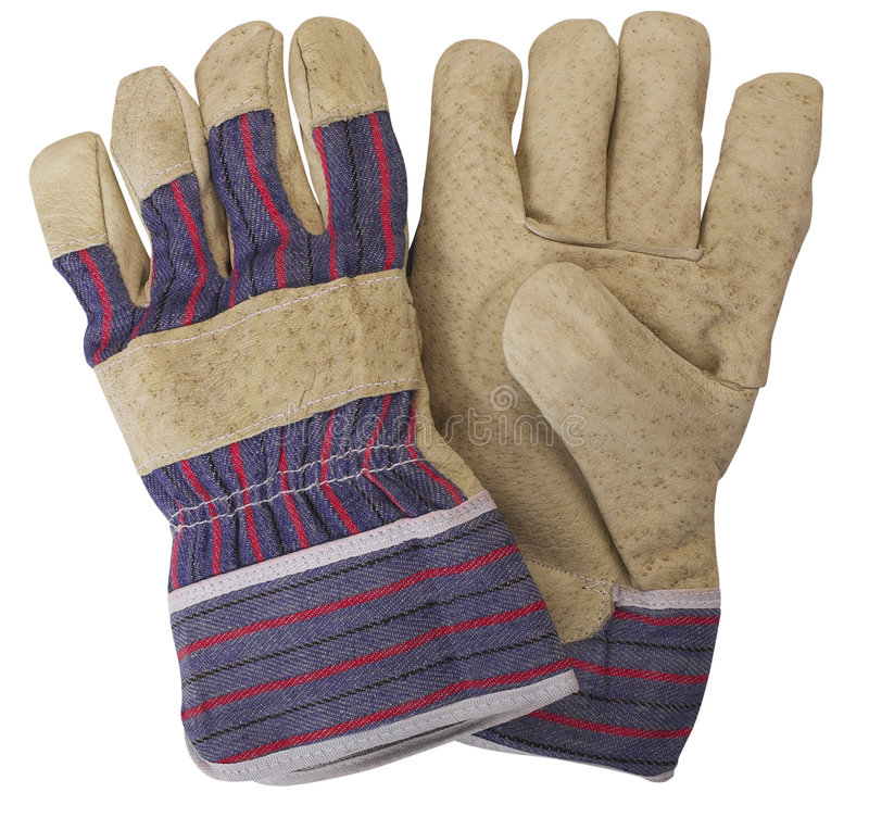 Paires de gants fonctionnants photos stock