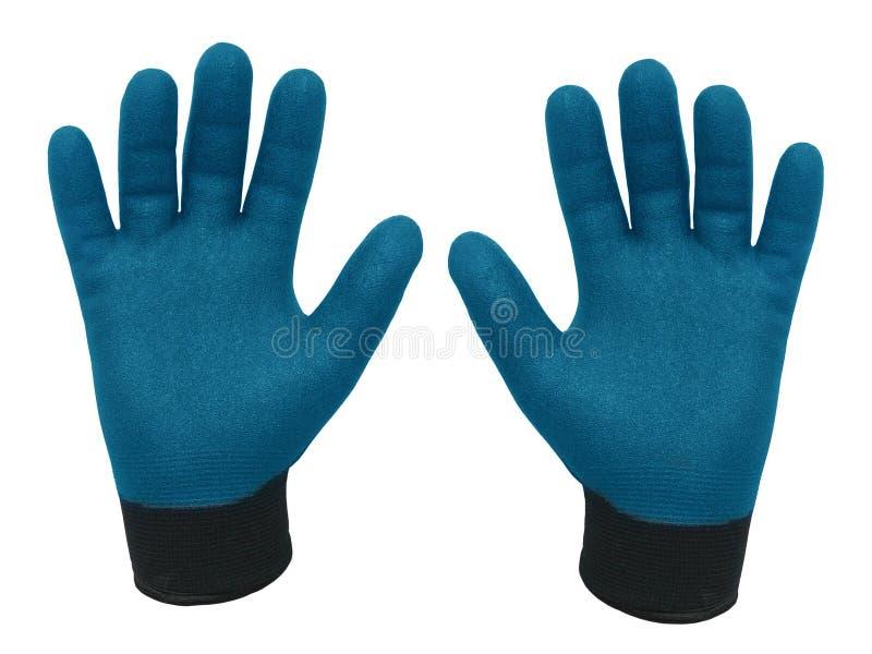 Paires de gants pour le travail résistant photographie stock