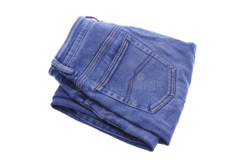paires de jeans pliées par denim photographie stock
