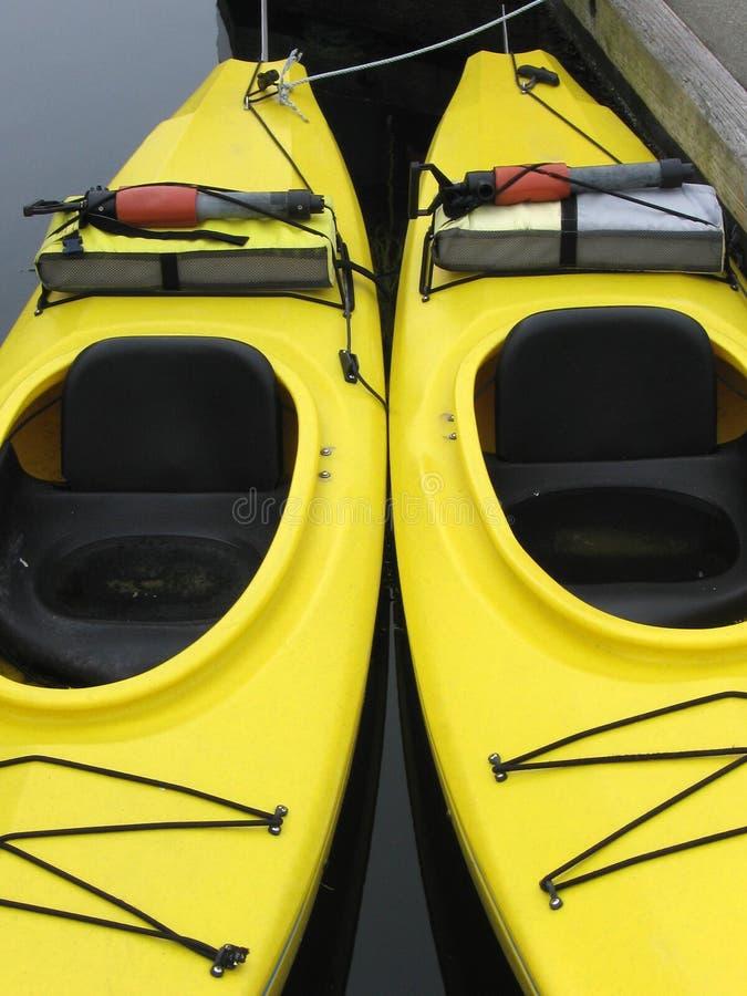 Paires de kayaks images stock