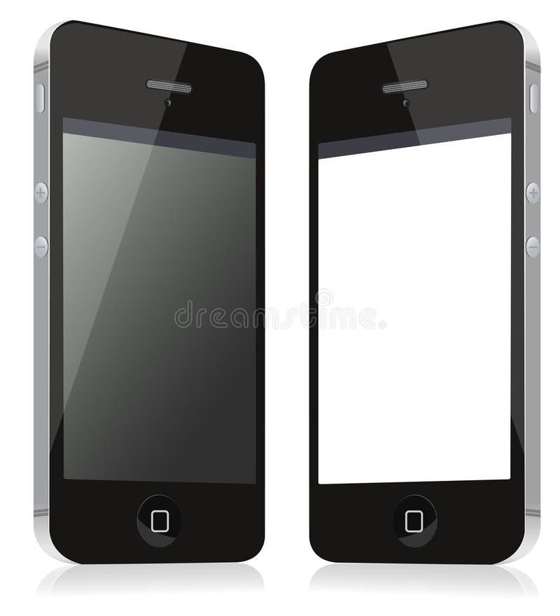 Paires de smartphones de modèles, une illustration d'IEM illustration de vecteur